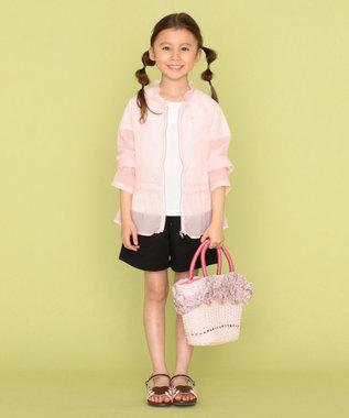 組曲 KIDS ナチュラルフラワープリント かごバッグ ピンク系5