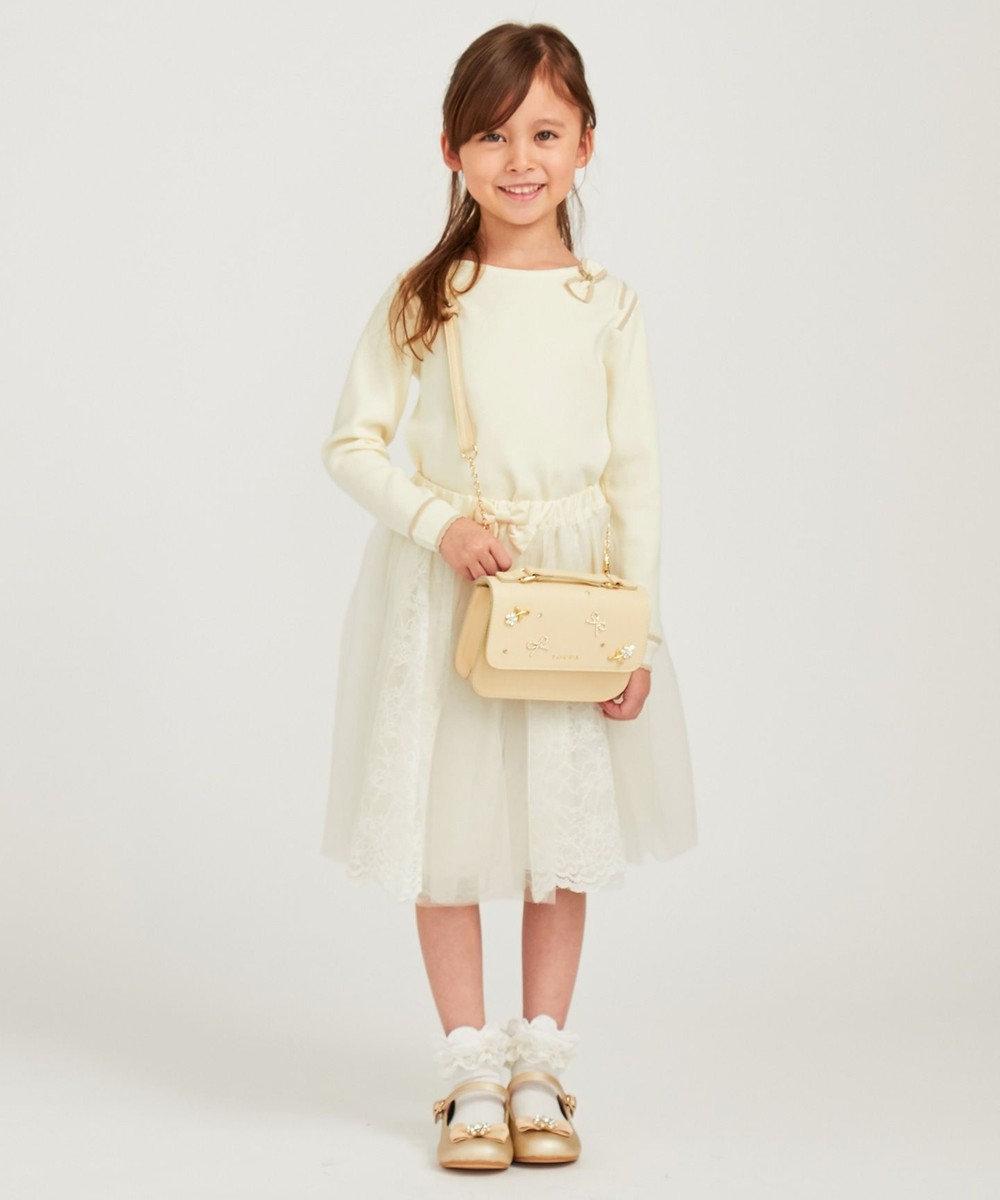 TOCCA BAMBINI 【KIDS】リボンフラワービジュードレスバッグ ホワイト系
