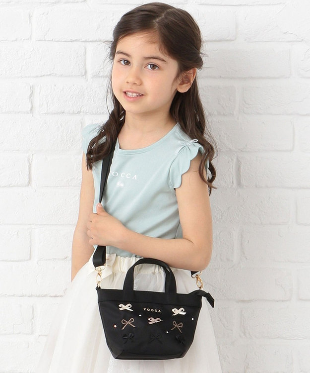 TOCCA BAMBINI 【KIDS/MOM雑貨】EMB TOCCAリボン トートバッグ(XSサイズ)