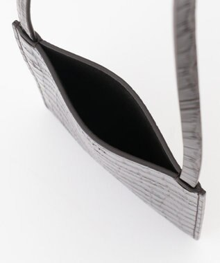 JOSEPH クロコ ポケット バッグ / ショルダーバッグ ダークブラウン系