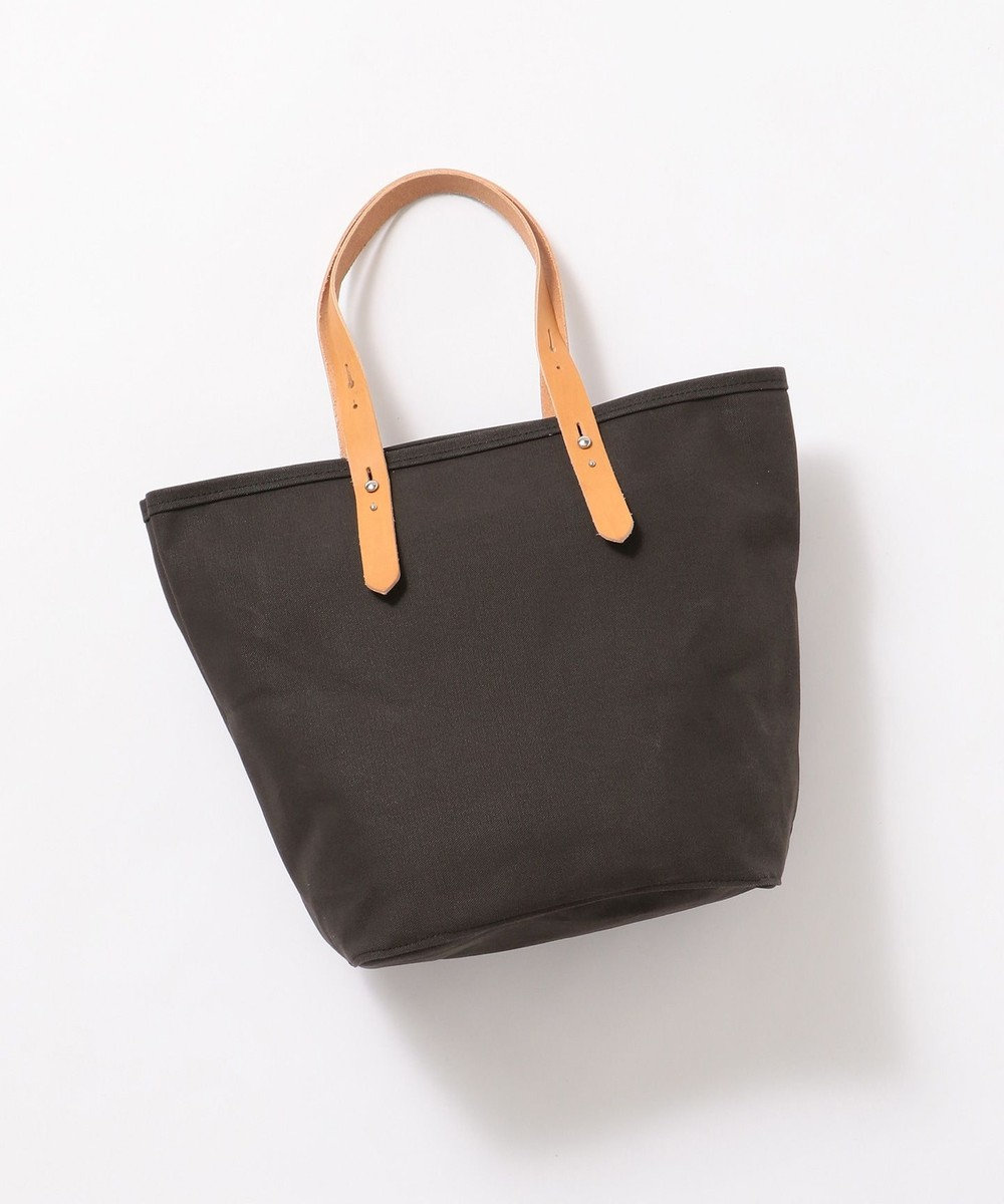 Production Labo 【日本製・倉敷産タンニン染め】キャンバス トートバッグ(大) ブラック系