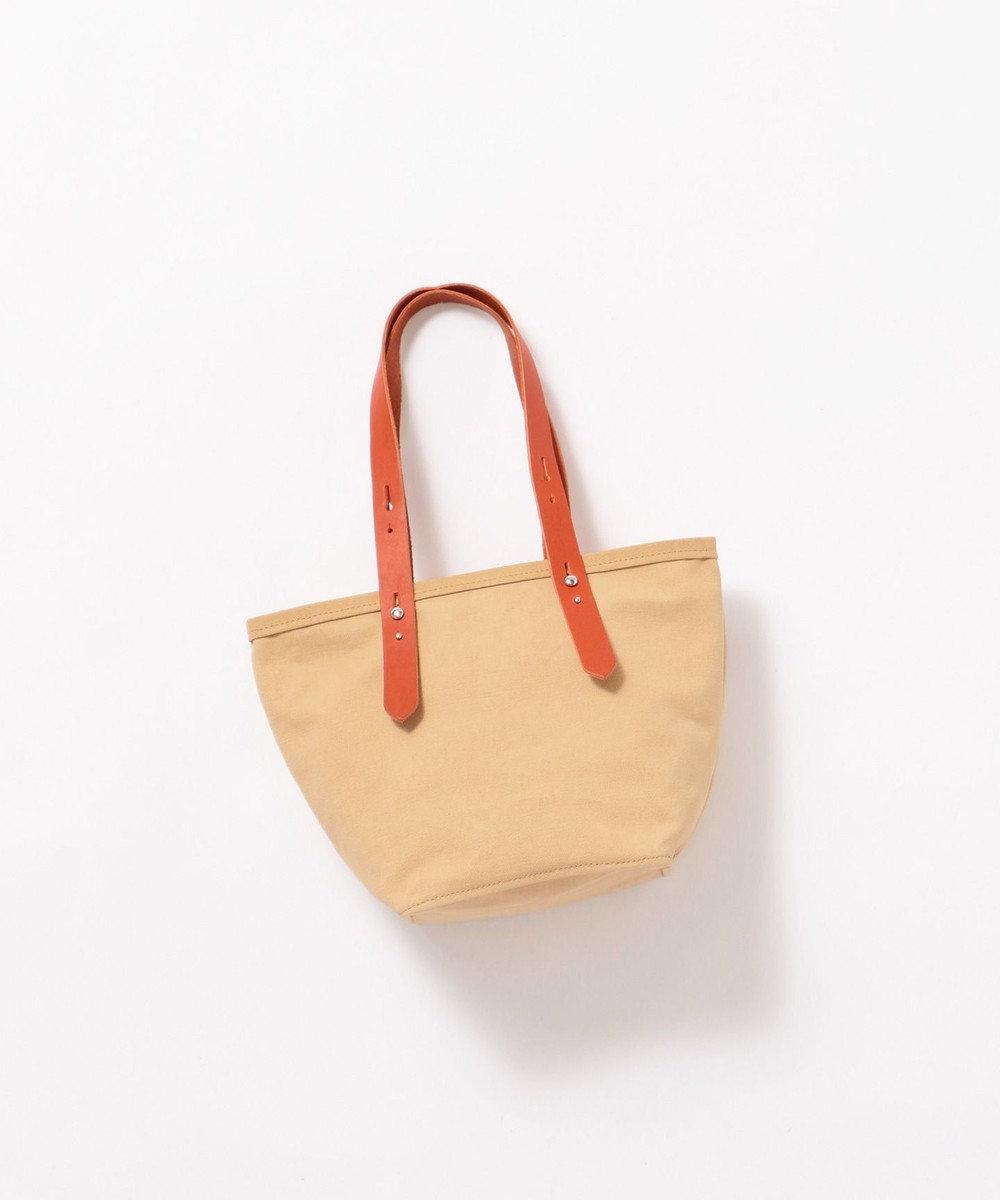 Production Labo 【日本製・倉敷産タンニン染め】キャンバス トートバッグ(小) ベージュ系