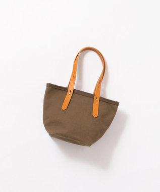 Production Labo 【日本製・倉敷産タンニン染め】キャンバス トートバッグ(小) ダークブラウン系