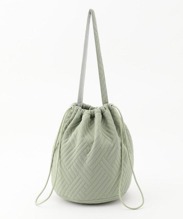 #Newans 【マガジン掲載】キルティングジャージー巾着バッグ(番号NF32)