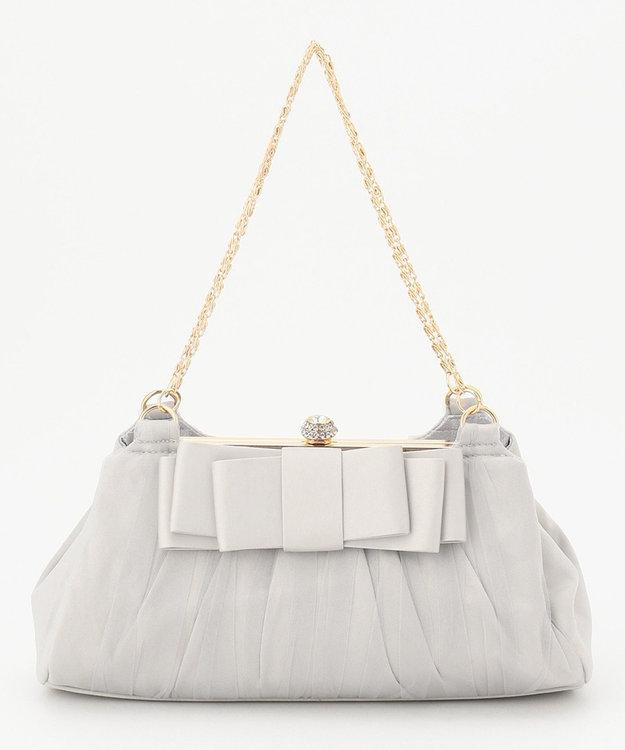 Feroux 【2WAY】フラットリボンブローチパーティ バッグ