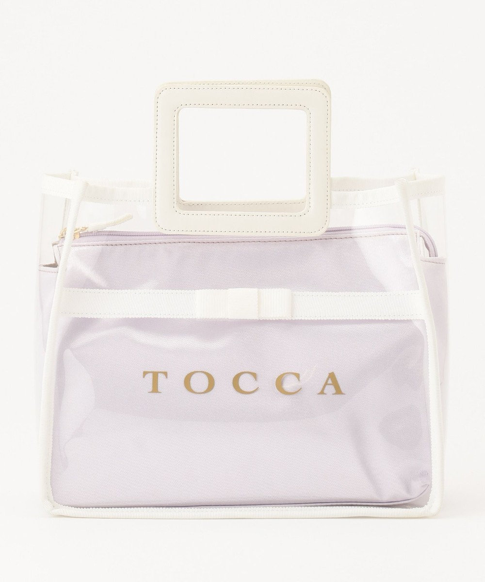 TOCCA PRAIA PVC トートバッグ ホワイト系
