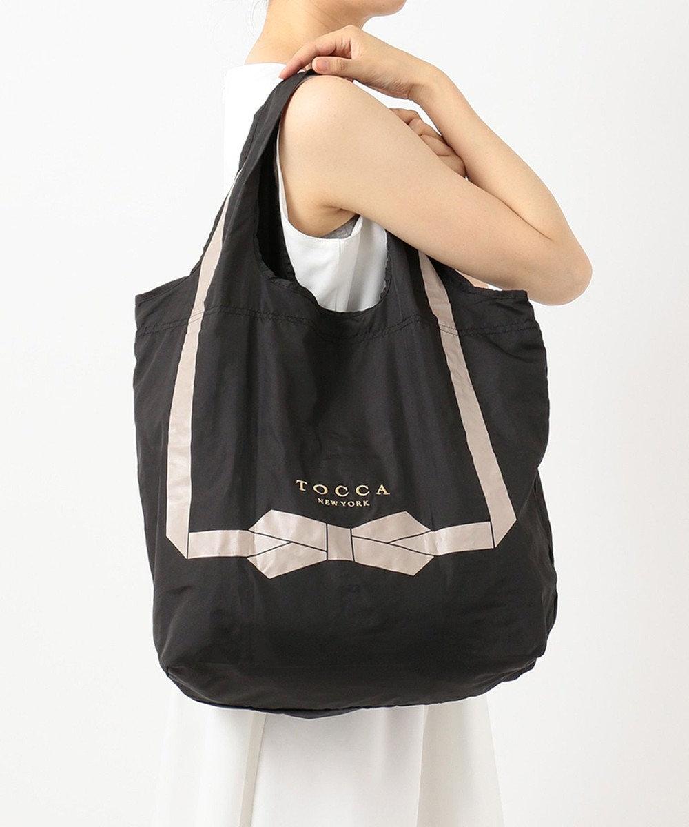 TOCCA 【ポケッタブル】PRESENT RIBBON ECOBAG エコバッグ ブラック系