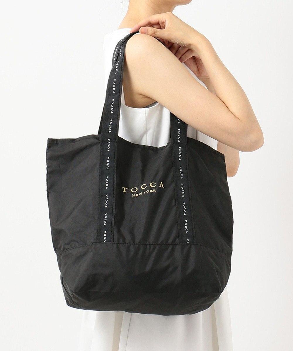 TOCCA 【ポケッタブル】LOGO RIBBON ECOBAG エコバッグ ブラック系