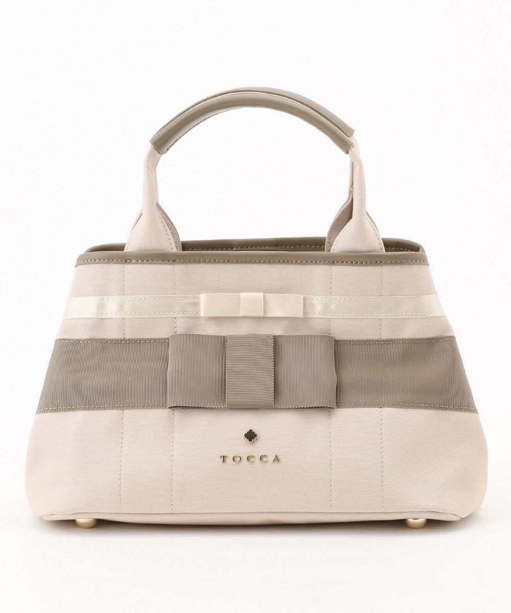 TOCCA 【一部店舗限定カラー有】PRESENT CANVAS SMALL トートバッグ アイボリー系