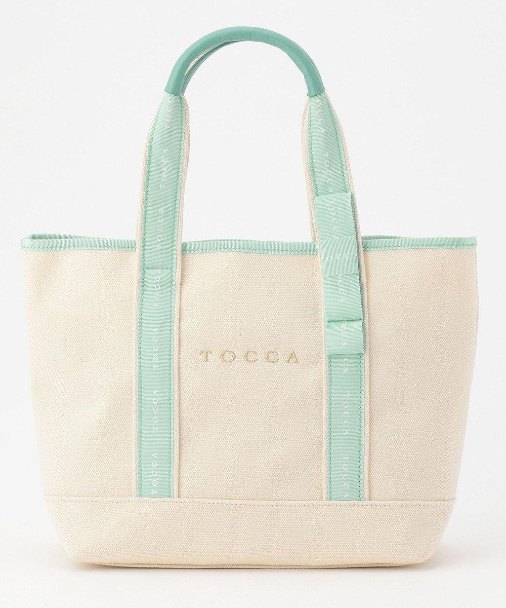 TOCCA 【WEB限定カラー有】LOGO RIBBON CANVAS トートバッグ [新色]スカイブルー系