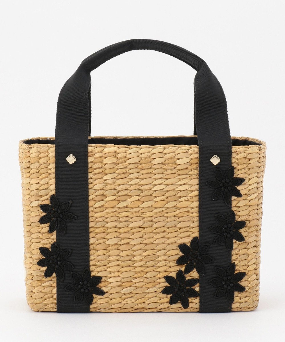 TOCCA LACE WICKER TOTE かごバッグ ブラック系