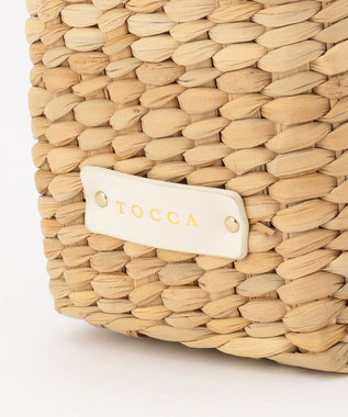 TOCCA LACE WICKER TOTE かごバッグ ピンク系