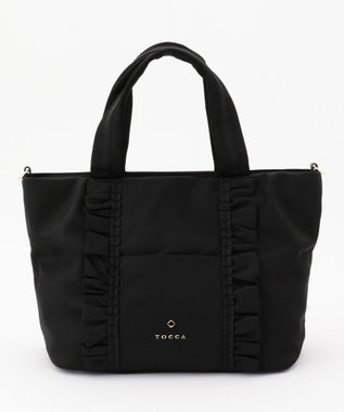TOCCA FRILL TOTE トートバッグ ブラック系