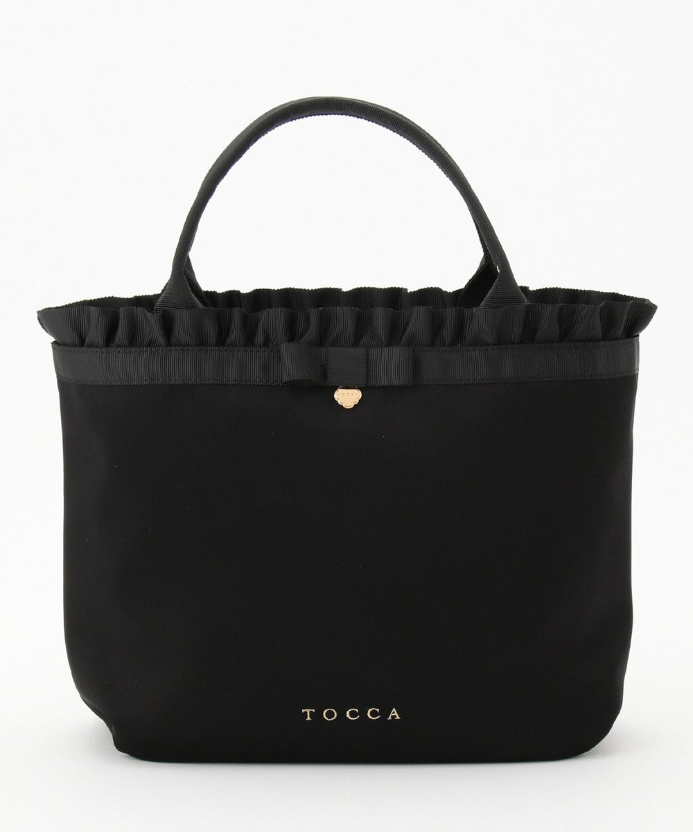 TOCCA 【SNOWFLAKE WALTZ】CLOVER CHARM TOTE トートバッグ ブラック系