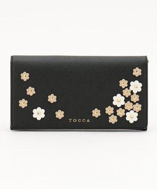 TOCCA FLOWER PETAL CROSSBODY バッグ ブラック系