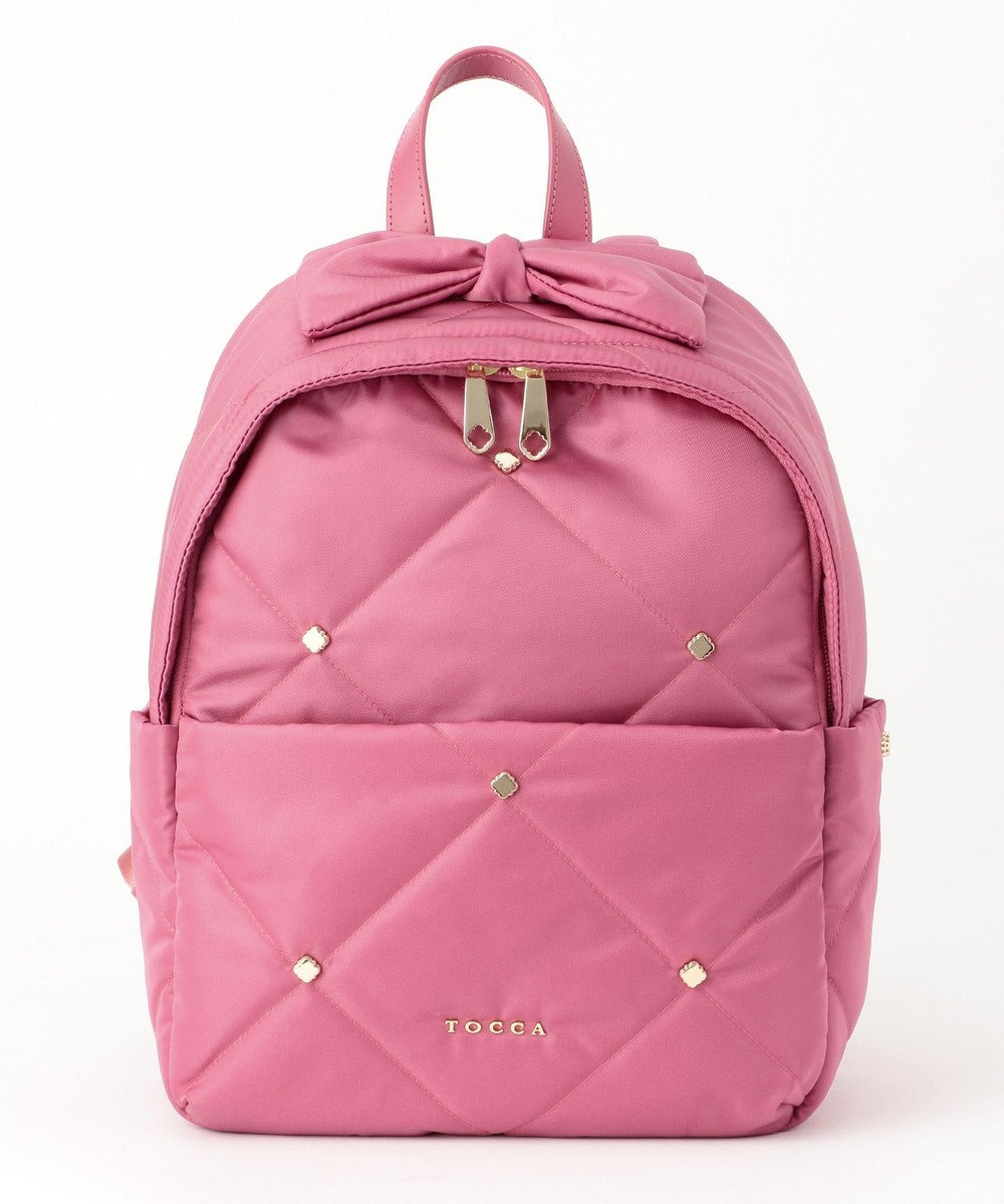 TOCCA 【BAG COLLECTION】QUILTING NYLON BACKPACK リュック オールドローズ系