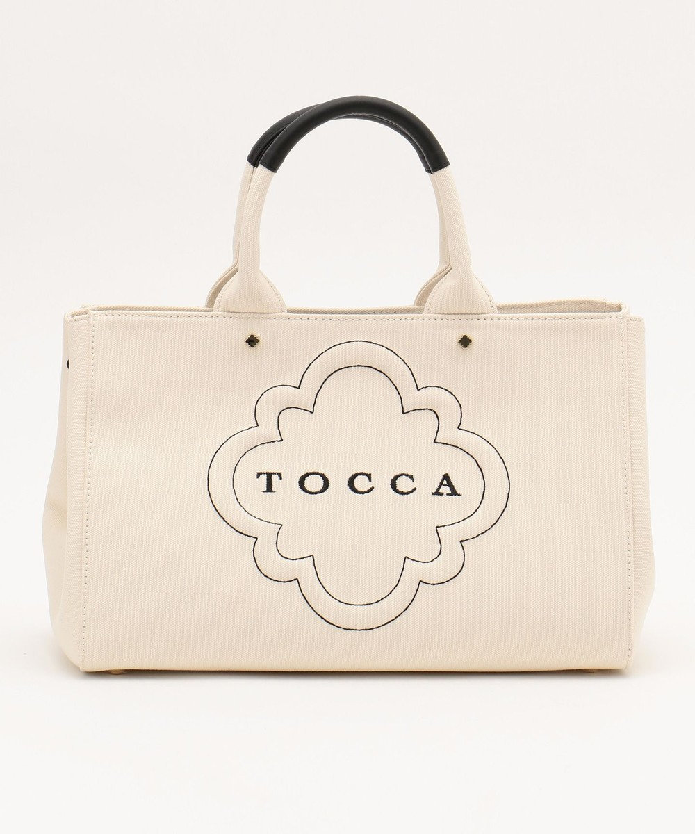 TOCCA 【BAG COLLECTION】DAILY CANVAS LARGE トートバッグ ホワイト系
