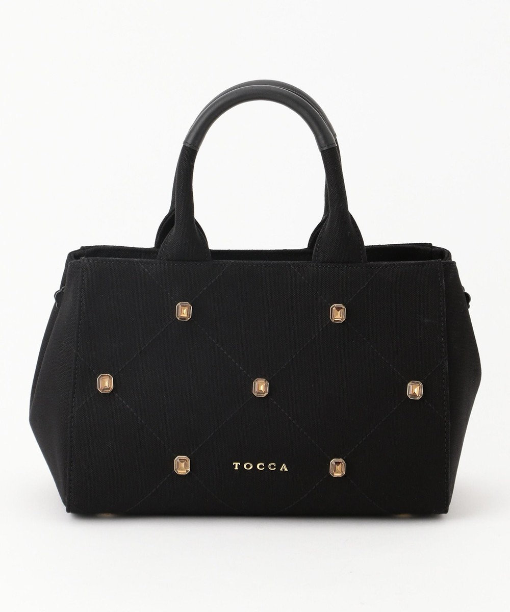 TOCCA 【BAG COLLECTION】QUILTING BIJOUX DAILY CANVAS トートバッグ ブラック系