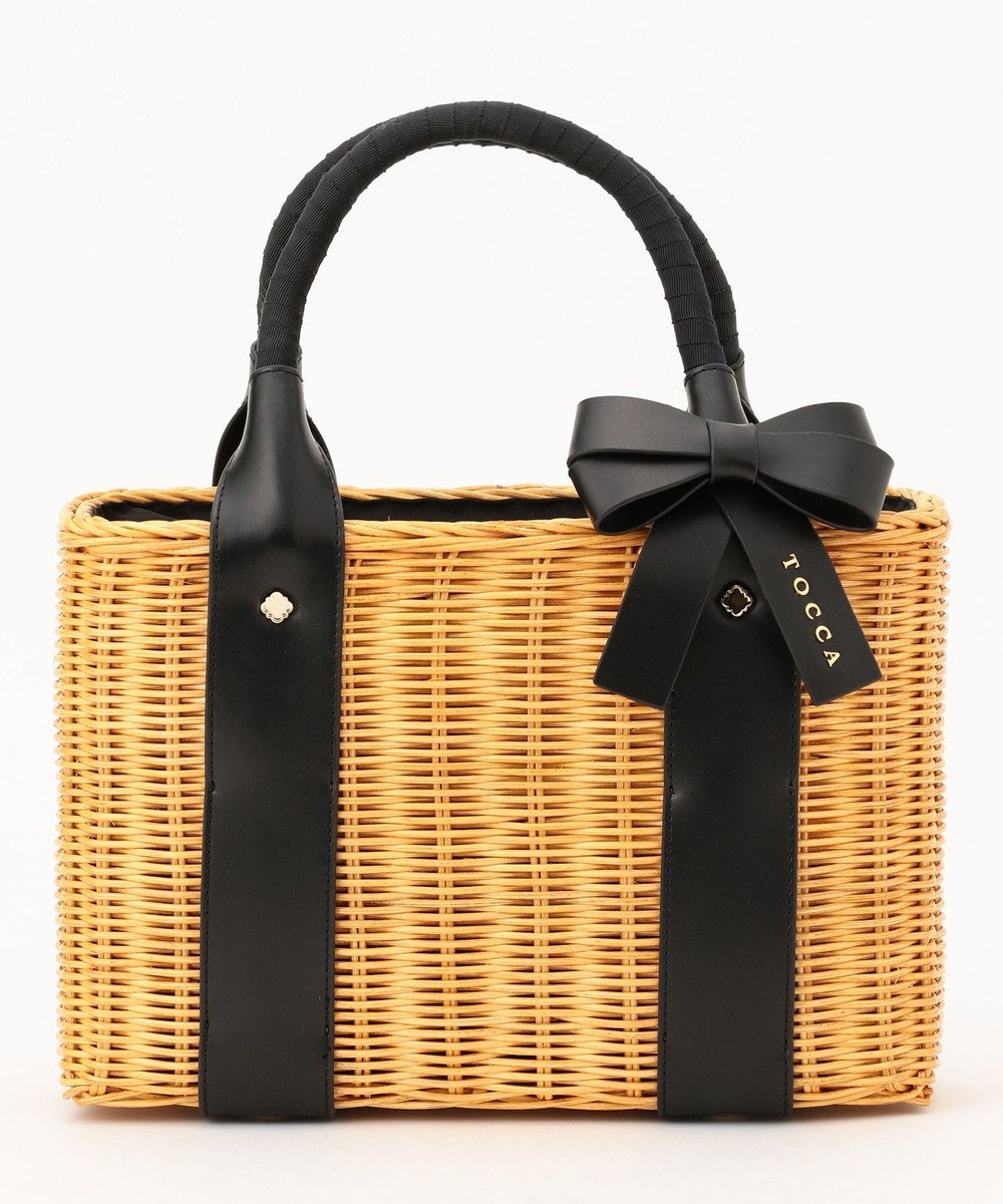 TOCCA 【BAG COLLECTION】WICKER RIBBON TOTE かごバッグ ベージュ系