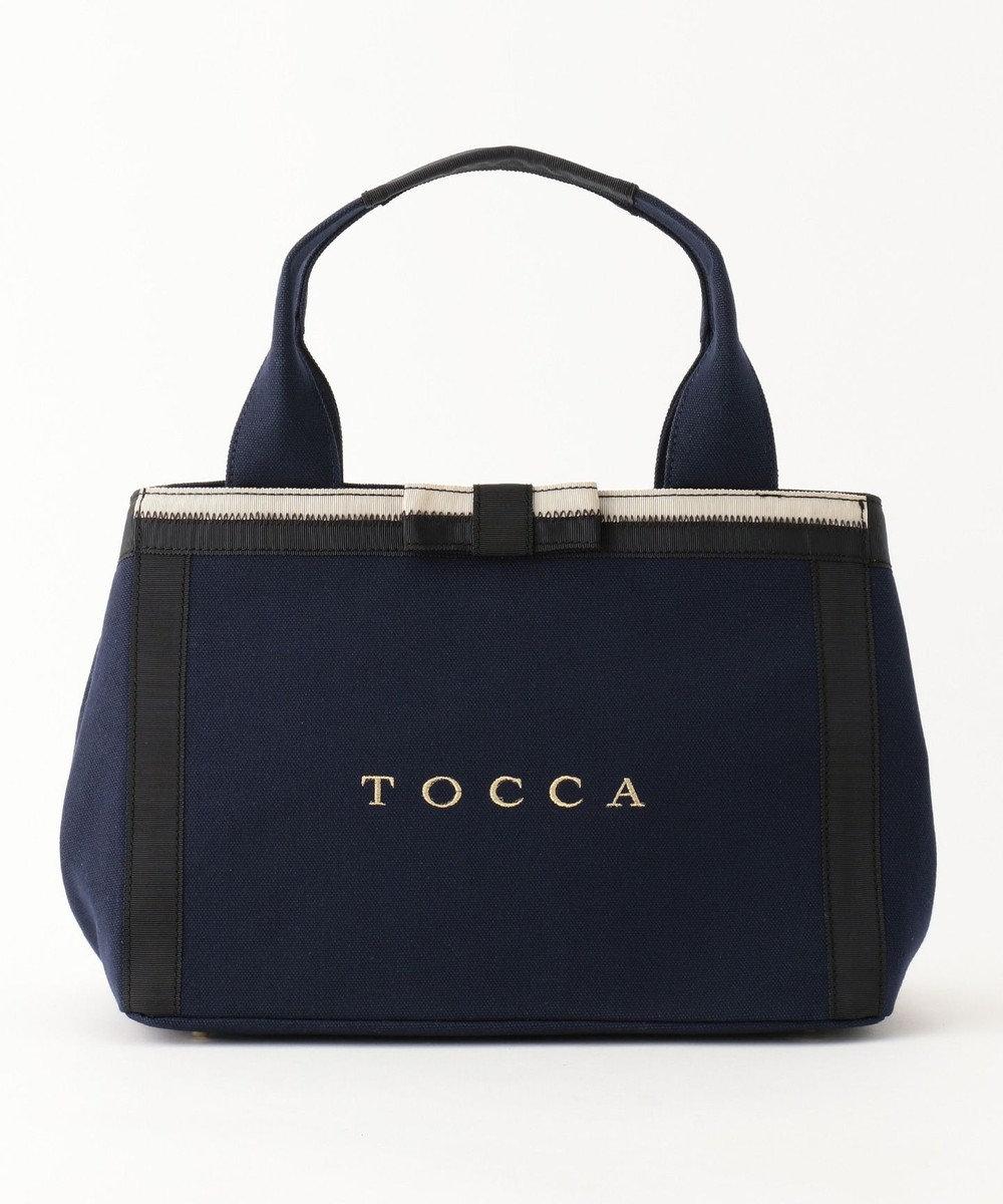 TOCCA CHELSEA CANVAS トートバッグ [限定]ネイビー系