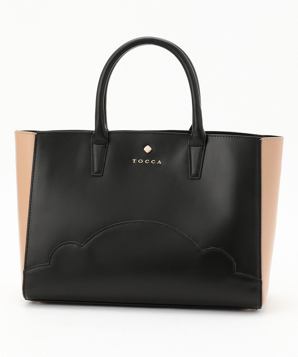 TOCCA BI COLOR TOTE トートバッグ ブラック系