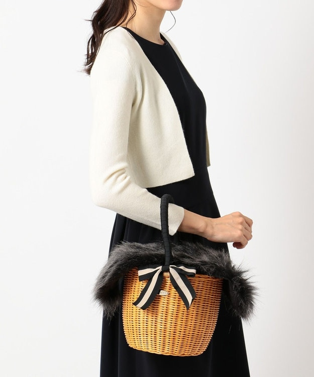 TOCCA FUR WICKER TOTE かごバッグ