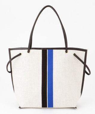 自由区 【UNFILO】セレクテッドライン 2WAYトートバッグ (検索番号:UN76) ブラウン×ブルーライン