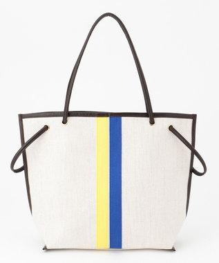 自由区 【UNFILO】セレクテッドライン 2WAYトートバッグ (検索番号:UN76) イエロー×ブルーライン