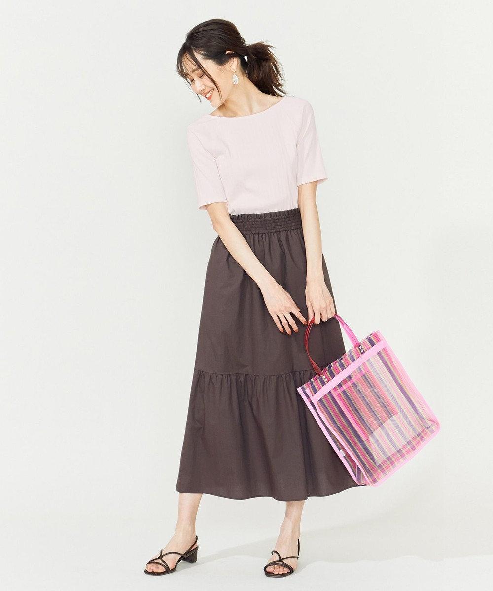 組曲 【WEB限定】タイダイチュールビッグトートバッグ パープル系