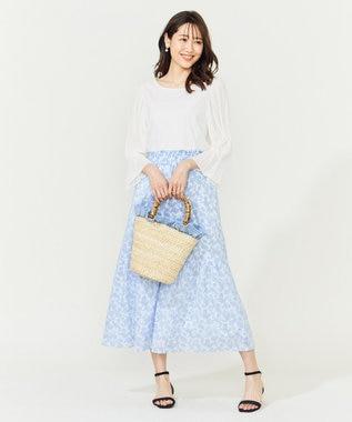 組曲 【WEB限定】バンブーメイズフリルバッグ サックスブルー系