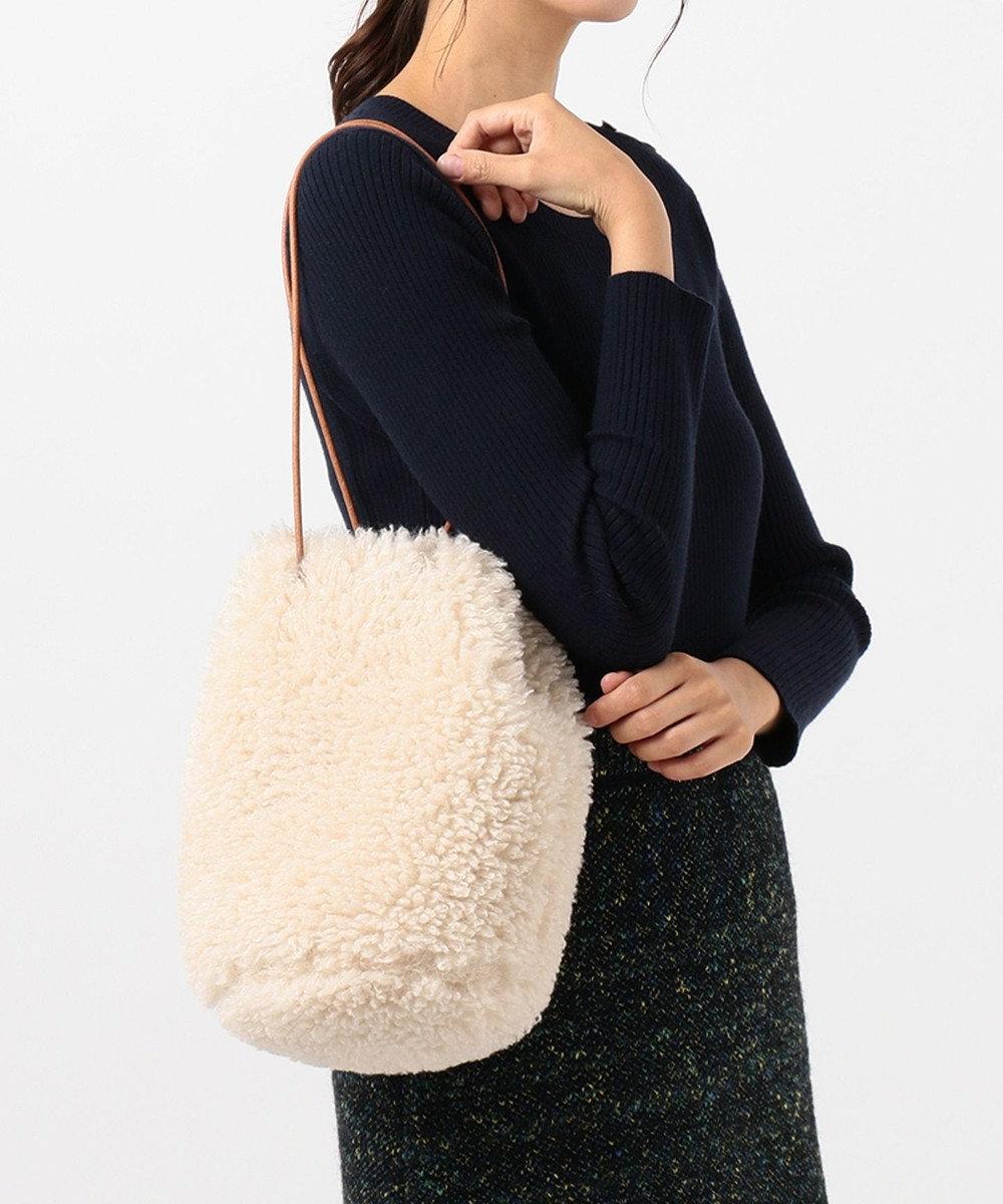 組曲 【WEB限定・リバーシブル対応】エコファー 巾着バッグ イエロー系