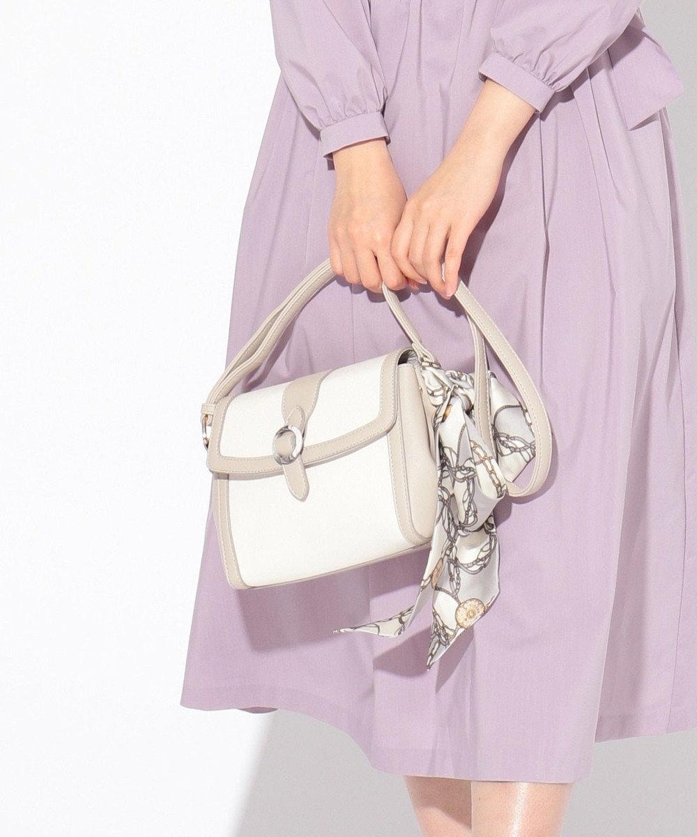 any SiS 【美人百花4月号掲】クリアバックルバイカラー ショルダーバッグ アイボリー