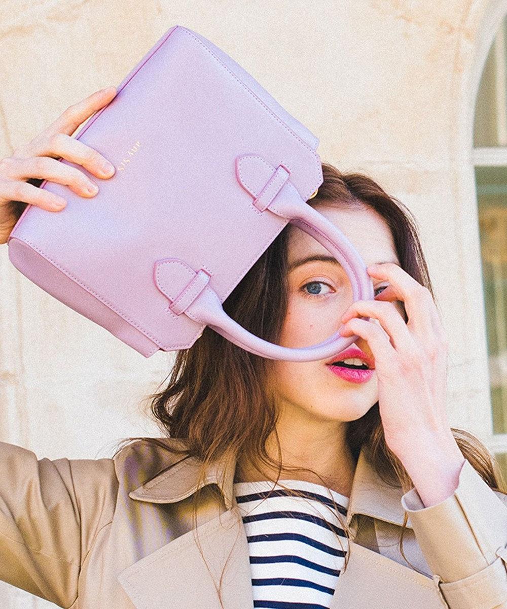 any SiS 【美人百花6月号掲載】スリムミニボストン ショルダーバッグ ラベンダー