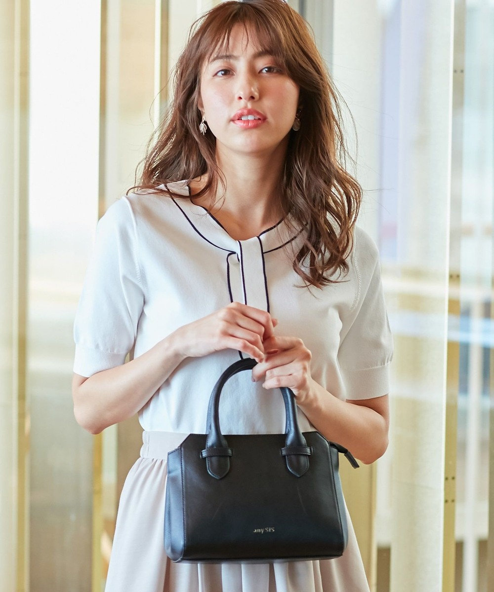 any SiS 【美人百花6月号掲載】スリムミニボストン ショルダーバッグ ブラック