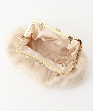 any SiS リボンビジューエアリー バッグ シャンパンゴールド
