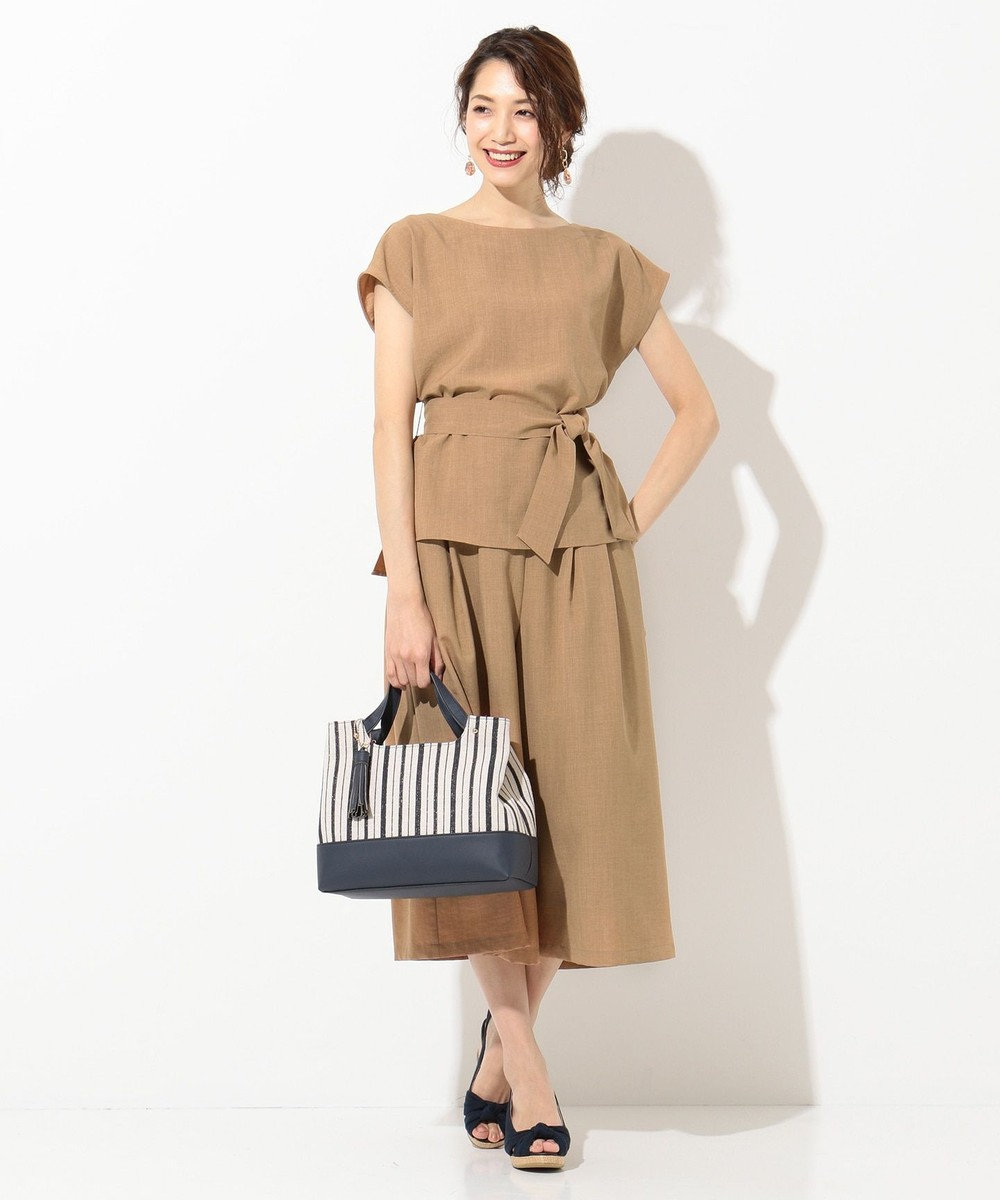 any SiS 【泉里香さん着用】ラインブレード トートバッグ ネイビー系1