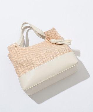 any SiS 【泉里香さん着用】ラインブレード トートバッグ アイボリー系