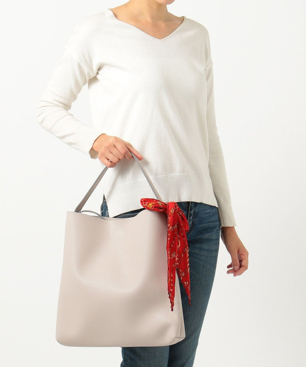 any SiS 【2WAY】スカーフアクセント トートバッグ