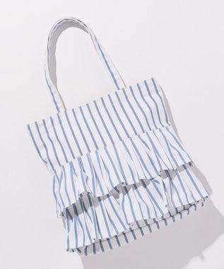 any SiS 【A4サイズ収納OK】フリル トートバッグ2 スカイブルー系1