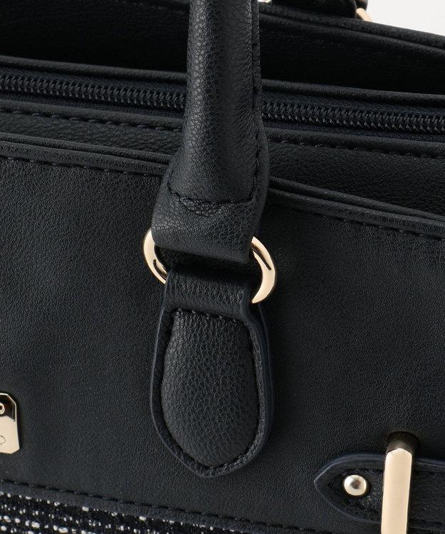 any SiS 【素材連動】リップルボーダーストレッチ ハンドバッグ