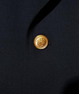 J.PRESS MEN 【J.PRESS ORIGINALS】PEPPIN MERINO TROPICAL 4B AUTHENTIC W-BLAZER ネイビー系