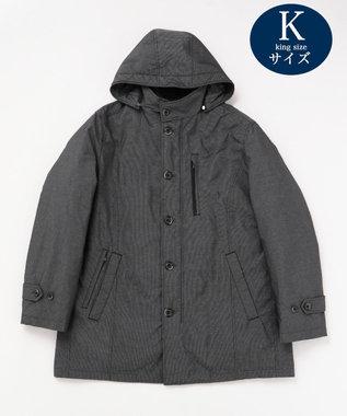 JOSEPH ABBOUD 【キングサイズ・3WAY】ADSインターレースジャガード コート グレー系