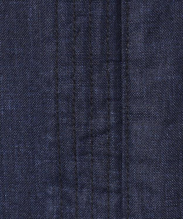 JOSEPH ABBOUD 【キングサイズ・LUXURY COLLECTION】コーティングリネン コート ネイビー系