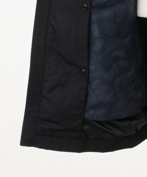 JOSEPH ABBOUD 【キングサイズ・ライナー付き】メモリーピンヘッド コート ネイビー系