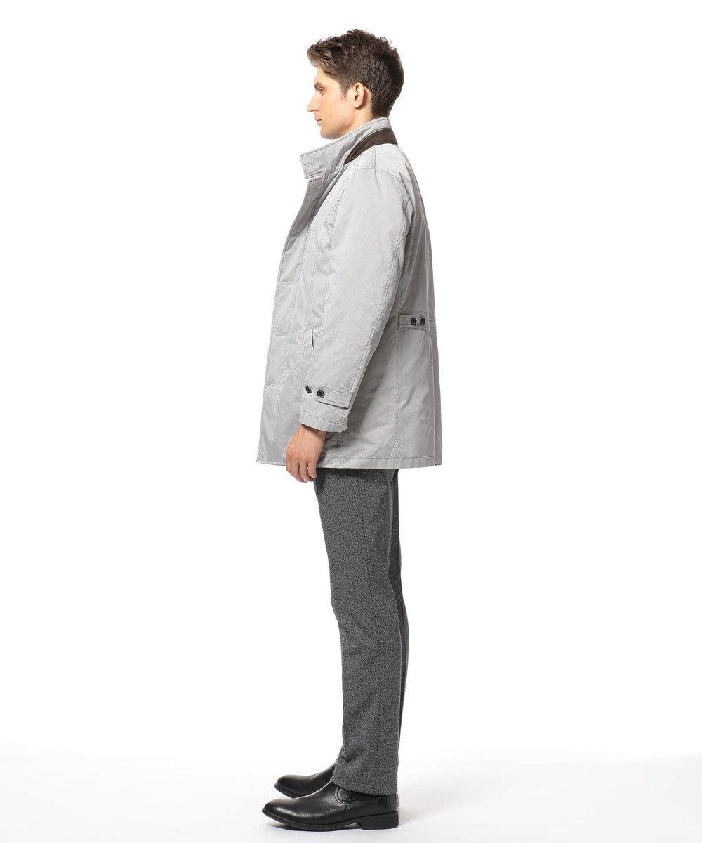 JOSEPH ABBOUD 【キングサイズ・3WAY】ADSインターレースジャガード コート ライトグレー系