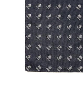 J.PRESS MEN 【BLUE BLUE×J.PRESS】シルクレップ クレスト  チーフ(検索番号W118) ネイビー系7