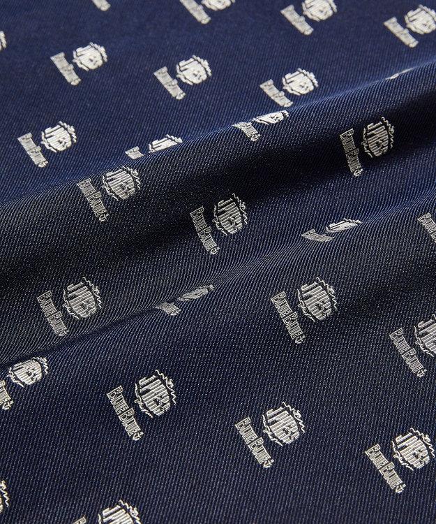 J.PRESS MEN 【BLUE BLUE×J.PRESS】シルクレップ クレスト  チーフ(検索番号W118)