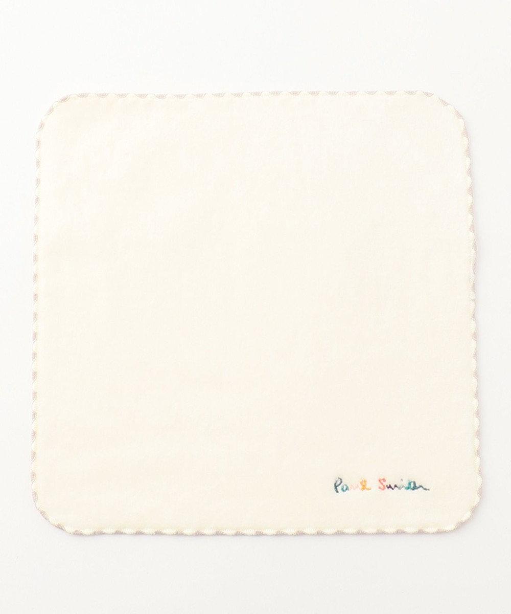 Paul Smith ロゴ エンブロイダリー ハンカチ ホワイト系