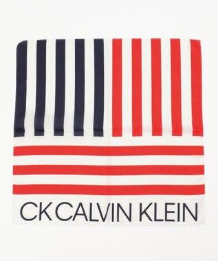 CK CALVIN KLEIN MEN 【ロゴシリーズ】ハンカチ レッド系1