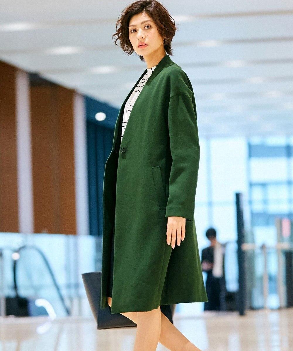 ICB 【2019春のWEB限定カラー】Mid Air ノーカラーコート カーキ系